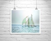 Sailing Art Print, Pacific Ocean, Sailboat Print, Sailing Picture, Nautical Art, Ocean Art, Art Photograph, Sailing Ships, Fine Art Print