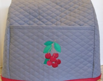 Mixer Cover With Cherries -Steel Gray -Fits Kitchenaid