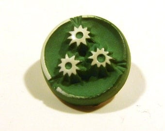 Vintage Buffed Celluloid Sewing Button