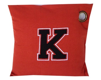 Gift ideas for college students, Grommet Pillows, Monogram Pillow Covers Room Decor Varsity 20 inch Throw Pillow Cover