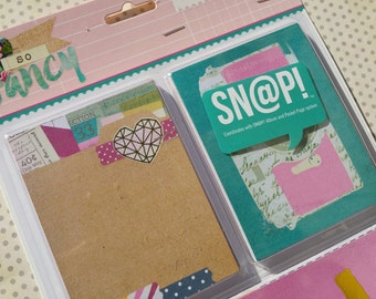 Simple Stories - So Fancy Snap Cards - Scrapbook Project Life Daily Planner Embellishments - 72 Journal Cards