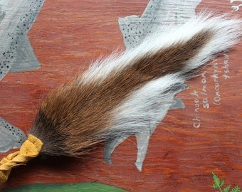 Deer tail - real whitetail deer totem dance tail on leather belt loop for shamanic ritual and dance DR01