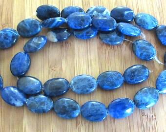 Blue Sodalite Ovals - 14x18mm Ovals - 12-inch Strand