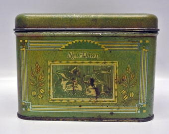 Vintage New Dawn Colombian coffee tin