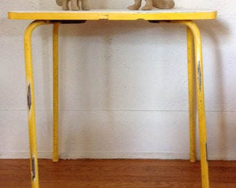 Vintage Industrial Modern End Table