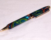 Writing Pen Electric Disco Handcrafted
