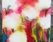 November 4, Carnival of Cotton series, Original Mixed Media painting