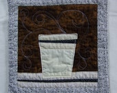 Hot Chocolate or Coffee Mug Rug Mini Quilt or Coaster