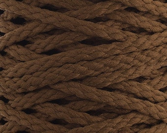 10 Yards Braided Macrame Cord - Mocha