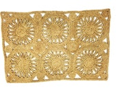 Vintage Bohemian Jute Grass Woven Placemats