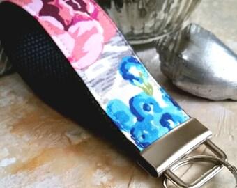 Wrist Key Chain - Key Fob Wristlet Keychain - Fabric Fob - Posey