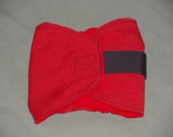 One Red Male Dog Diaper Diapers BellyBand Bellywrap Doggie Doggy diaper 4 smaller sizes to pick from