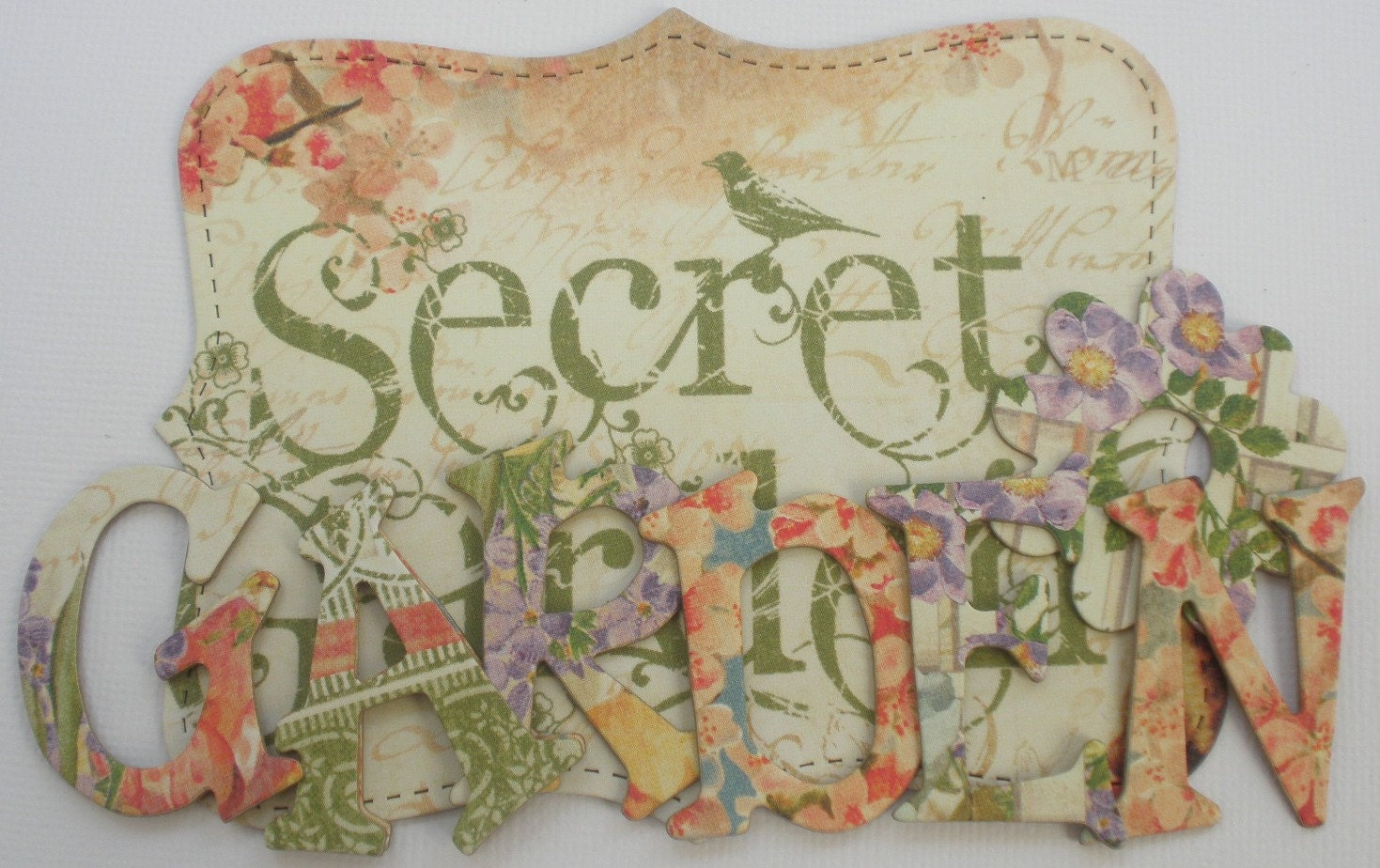 Letters Garden: SECRET GARDEN Chipboard Letters & Alphabet Die Cuts