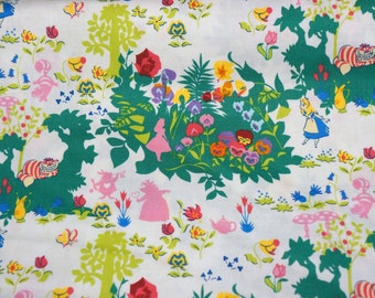 Disney Fabric  Alice in Wonderland 50  cm by 106 cm or 19.6 by 42 inches  A3