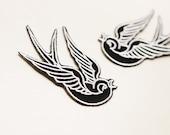 Black Sparrow Patch~Rockabilly Style