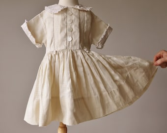 1950s Mother of Pearl Dress~Size 2t/3t