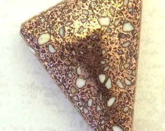 Freeform Copper Firebrick Cabochon