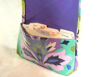 Waterproof Coupon Organizer, Coupon Holder, Coupon Wallet, Receipt Holder, Purse Organizer , Purple Fleur de lis
