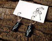 Silver Field Note Earrings