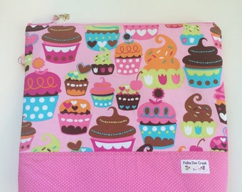 Pink Cupcake Project Keeper Bag