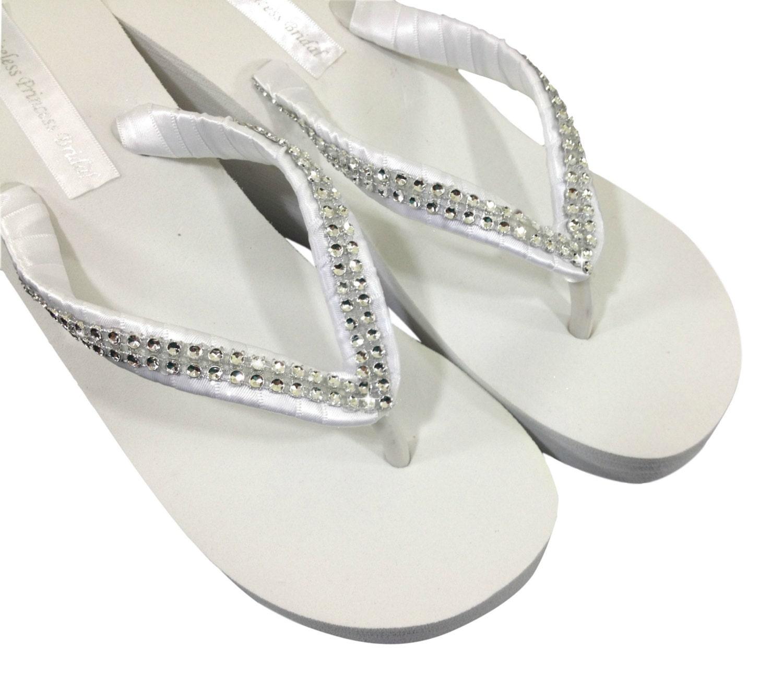 Wedding Flip Flops Bridal Wedge Flip Flops Bridal Sandals