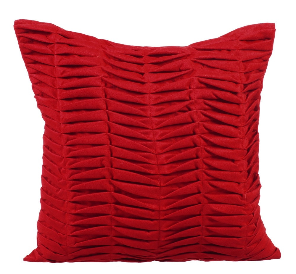 Red Throw Pillows For Bed : Red Throw Pillows for Bed 16x16 Pillow Covers Suede Throw