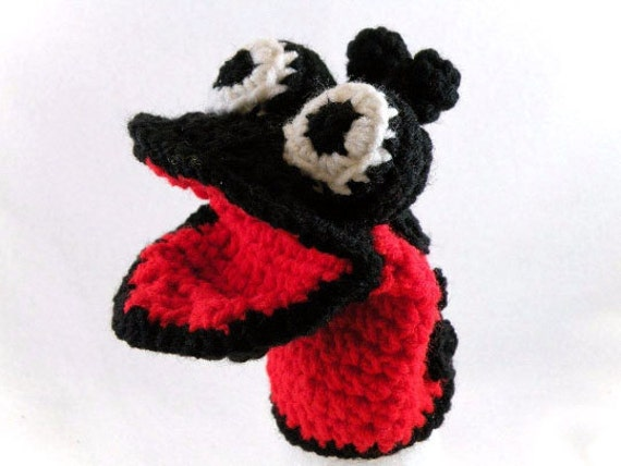 Little Red Ladybug Little Kid's Hand Puppet - Made Just For Tiny Hands!