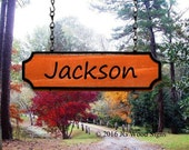 Childrens (Joseph) Add on Names or Location Names- Custom Carved Redwood Outdoor Sign