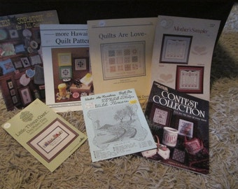 Vintage Cross Stitch Book Lot