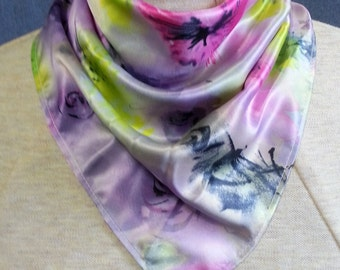 Satin look polyester bandanna scarves -  stoma covers