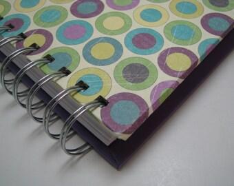 Lined Journal/ Blank Journal/ Journal/ Prayer Journal/ Daily Journal/ Wire Bound Journal/ Diary/ Sketchbook/ Notebook/ Purple Circles