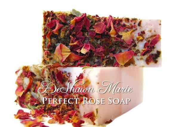 SOAP- Perfect Rose Soap - Vegan Soap - Handmade Soap- Soap Gift