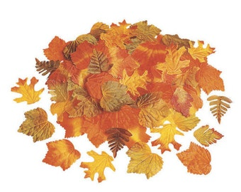 250 Pieces Fall Leaves Autumn Wedding Decor