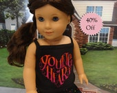 Young At Heart - skirt set for American Girl doll **Sale**