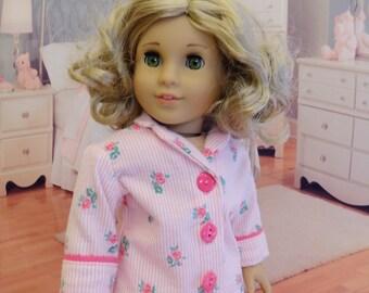 Pajamas for American Girl - Rose Stripe