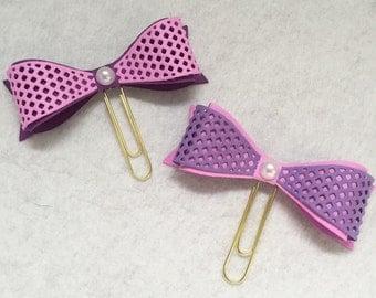 Dimensional Planner Clips, Pretty Bows, Grape Berry