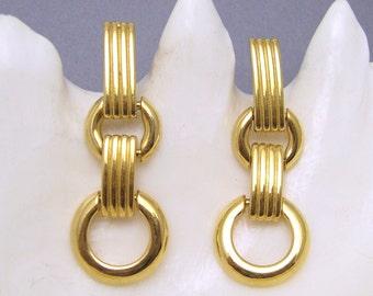Long Mod Earrings Monet Vintage Jewelry E6941