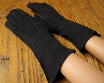 Vintage Black Dress Gloves, Shalimar, Long Black Dress Gloves,  Black Gloves, Dress Gloves, Vintage Style, Vintage Fashion, Mourning Gloves
