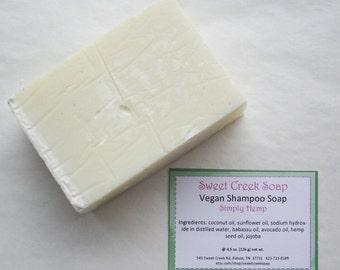 Vegan Hemp Shampoo Soap, Simply Hemp