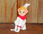 Vintage Knee Hugger Pixie Elf in White