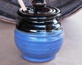 Honey Pot in Tenmoku and Denim Blue