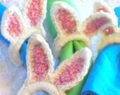 Bunny Napkin Rings - Bunny Ears Crochet Napkin Rings - Easter Table Decor - Easter Bunny Decor - Bunny Rabbit - Crochet Bunny Ears