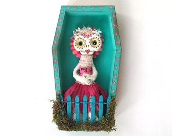 Azalea  - an original Day of the Dead doll and shrine