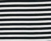 "Knit black stripes 1/2"" knit 1 yard"