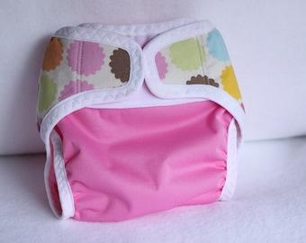Small/newborn diaper cover/waterproof/ cloth diaper cover /wrap/ leg gussets/ velcro