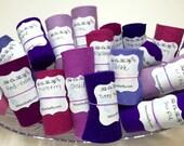 Wool Felt Rolls, Set of Three, Purple, Fabric Remnants, DIY Crowns, Felt Flowers, Felt Ribbon, 18 Inch Roll, Applique