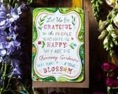 Let Us Be Grateful - Greeting Card