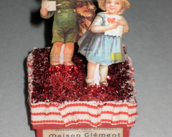 Vintage Style Victorian Valentine Candy or Treat Box