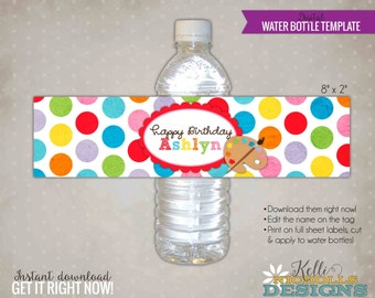 water bottle labels template free