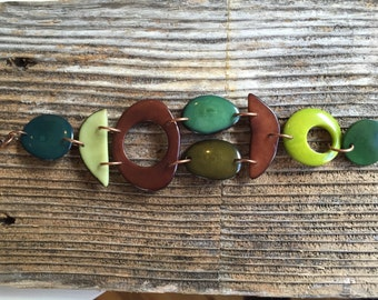 Mosaic mixed shapes bracelet/Other Colors Avail